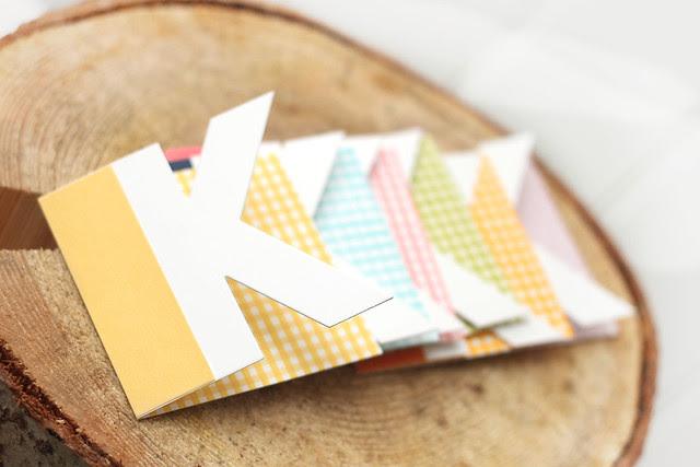 mini monogrammed notecards