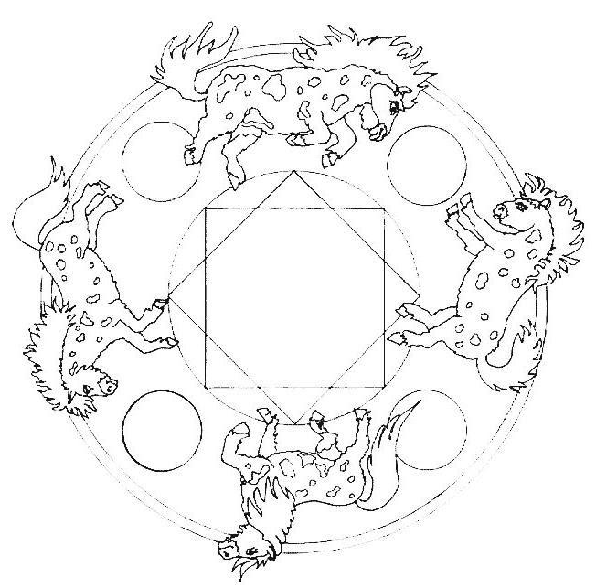 Coloriage Mandala Cheval Gratuit 1001 Animaux