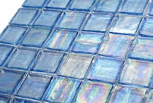 "1"" x 1"" glass mosaic tile"