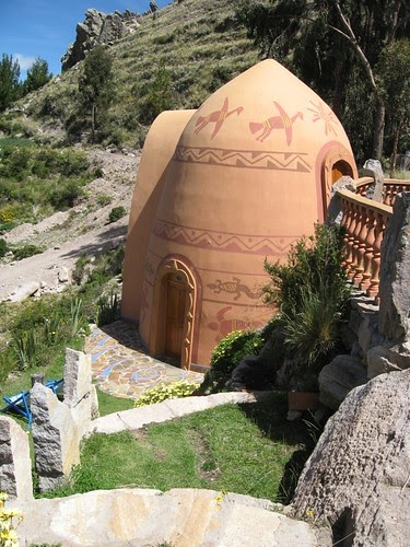 Gaudi Inspired Organic Home At Lake Titicaca Venusian Glow