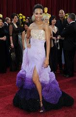 Zoe Saldana at the 82nd Annual Academy Awards