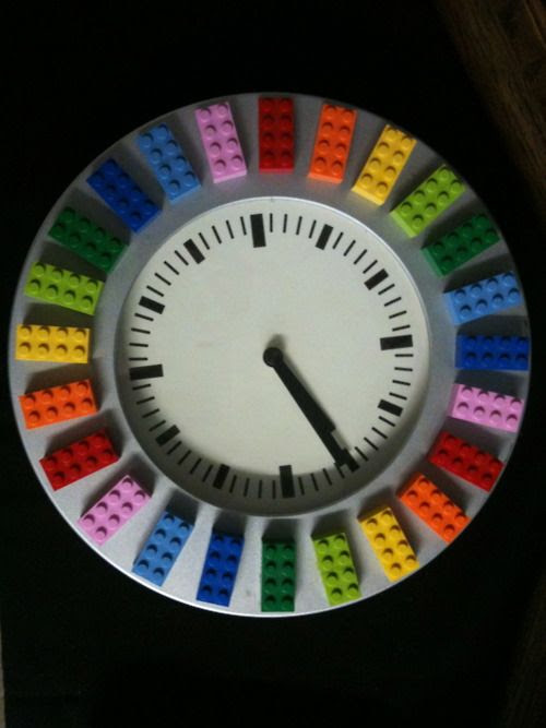 Clocks - Decor : Lego clock... - Decor Object | Your Daily dose of Best Home Decorating Ideas & interior design inspiration