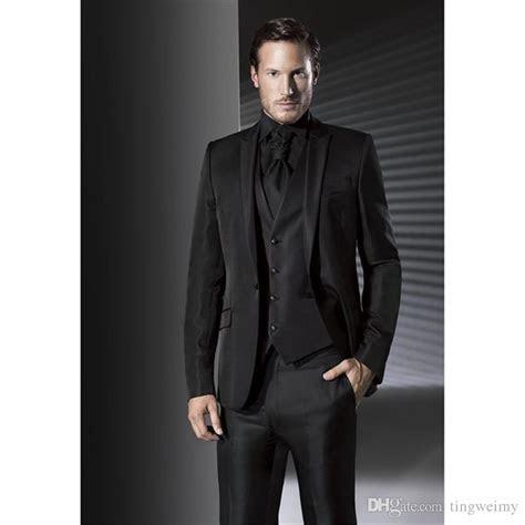 2019 Latest Coat Pant Designs Black Wedding Suits For Men