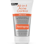 Neutrogena All-in-1 Acne Control Daily Scrub, 4.2 Fl. Oz