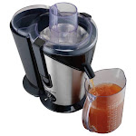 Hamilton Beach - Big Mouth Plus 2-Speed Juice Extractor - Black/Silver/White