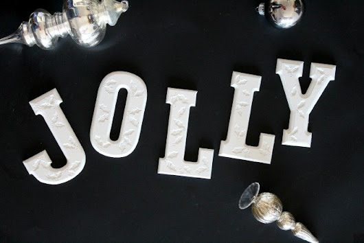 Holly Jolly Engraved Letters | sparkle