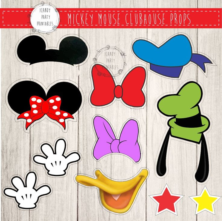 Mickey Mouse Photo Booth Props Free Printables Simplexpict1storg