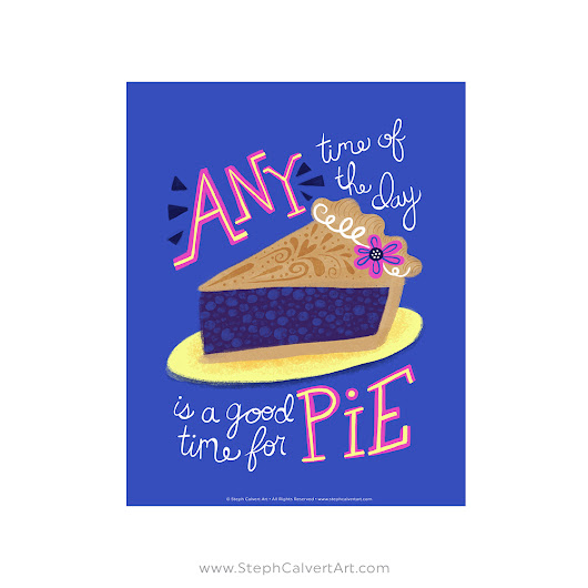 Good Time for Pie Art Print