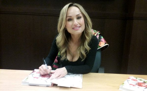 Giada De Laurentiis poses for the camera while signing my copy of her new book GIADA'S ITALY at The Grove's Barnes & Noble bookstore in Los Angeles...on April 24, 2018.
