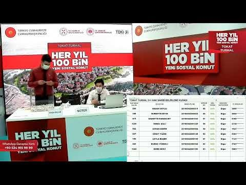 """""""100 Bin Yeni Sosyal Konut Projesi"""" Kapsamında Turhal'da Yapılacak Olan 300 Konutun Hak Sahipleri Belli Oldu"""