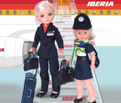 Foto muñecas Nancy Azafatas de ayer y de hoy reedición 2010
