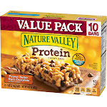 Nature Valley Chewy Bars, Protein, Peanut Butter Dark Chocolate, Value Pack - 10 pack, 1.42 oz bars