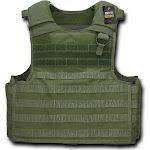 RapDom Tactical Plate Carrier M.O.L.L.E. Vest [Olive Drab - Adjustable]