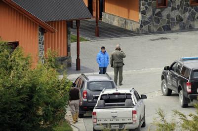 El fiscal Marijuan en la estancia Cruz Aike. Foto Maxi Failla.