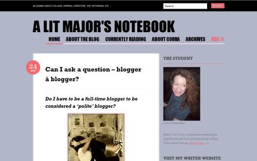 A Lit Major's Notebook