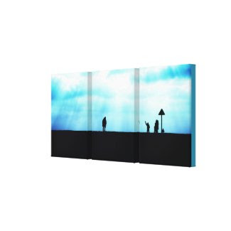 The Reunion Triptych - wrapped canvas