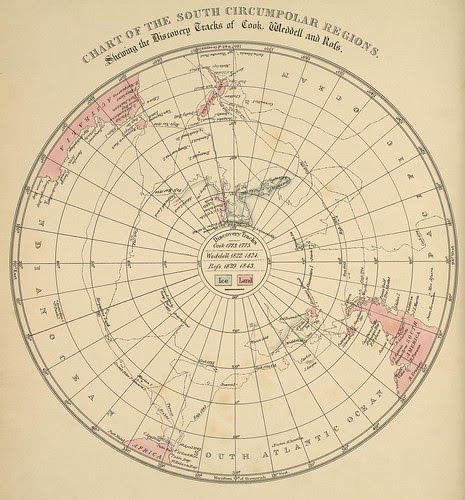 map of voyages to the south pole
