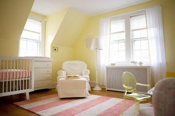 Nursery decor- Fairytale ideas in yellow and pink   Minimalisti.