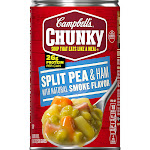 Campbell's Chunky Split Pea & Ham with Natural Smoke Flavor Soup, 19 Ounce