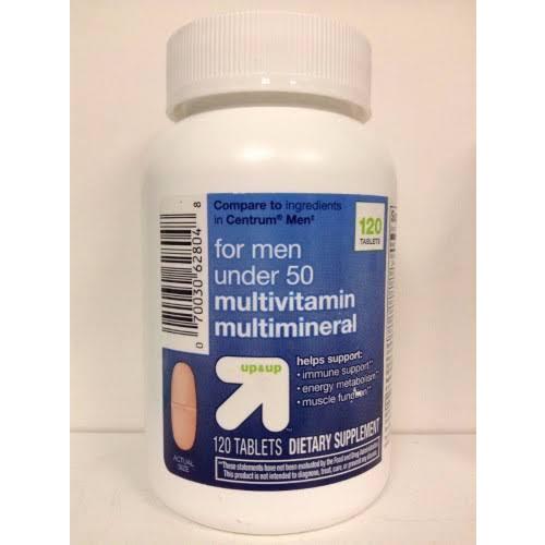 Multivitamin Tablets for Men - Under 50 120 Count - Up & Up
