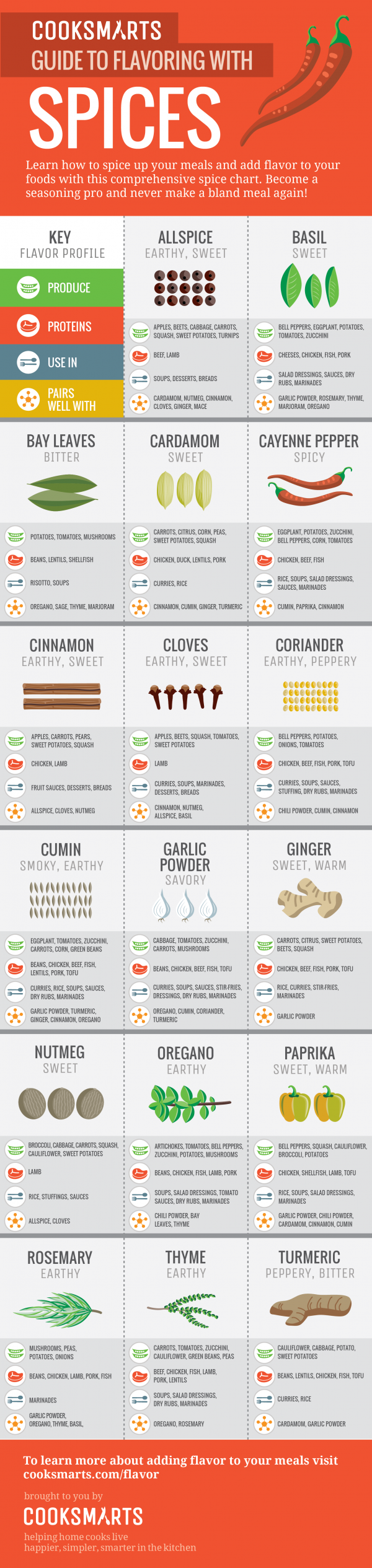 Guide to Flavoring with Spices (vertical)