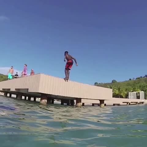 "#Anguilla's secret weapon for  2016 #Rio Summer #Olympics. Needs work landing what he calls  ""The #Caribbean Suspended Septuple #Backflip."""
