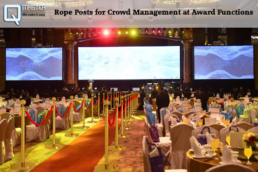 Rope Posts for Crowd Management at Award Functions – Qmaster – Queue Master
