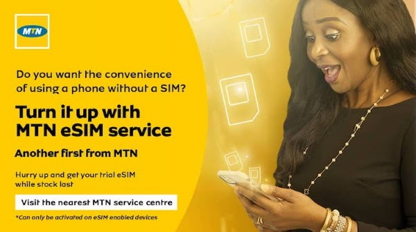 Embedded-SIM known as eSim is now available in Nigeria, according to an announcement by Africa's largest mobile operator, MTN. e-SIM will provide the same functionalities as a physical SIM card.