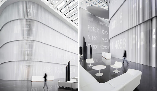 A Crisp-White Corian Office in China - Azure Magazine