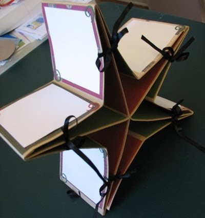 photo of star shaped scrapbook