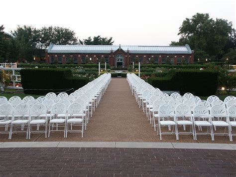 Chair set up for a wedding ceremony at the Gladney Rose