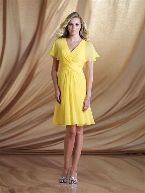 Short Yellow Mother of the Bride Dresses Other dresses
