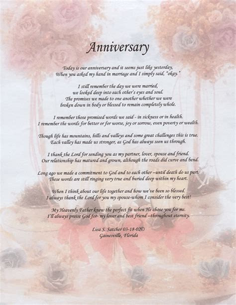 anniversary poem     Original Inspirational Christian