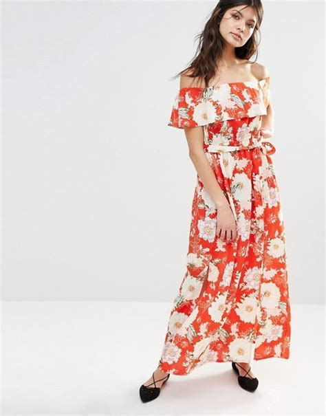 River Island   River Island Bardot Floral Maxi Dress