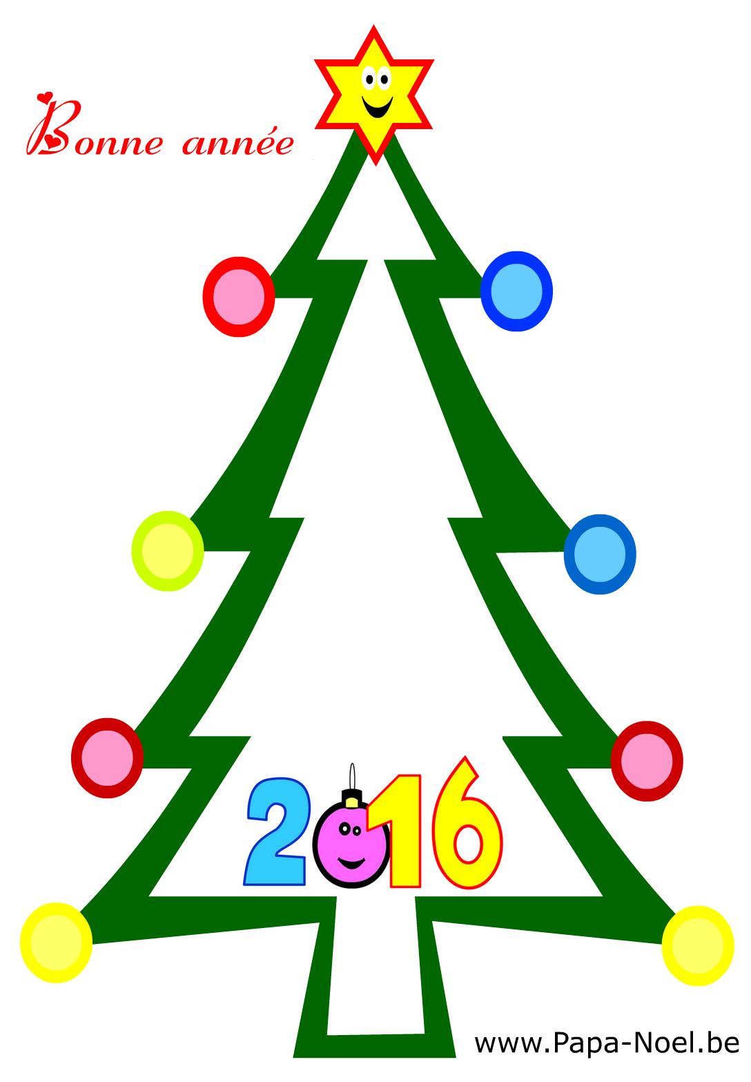 coloriages bonne année 2016 nouvel an 2016 carte bonne annee  imprimer
