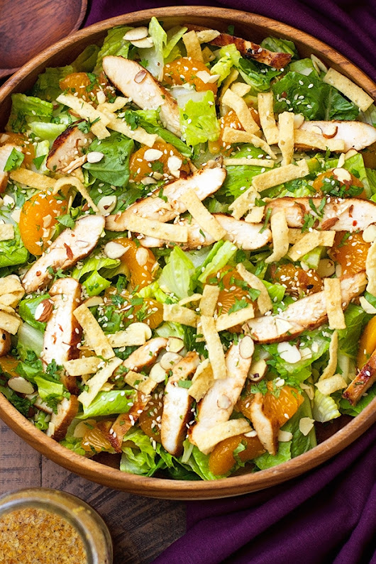 Asian Sesame Chicken Salad Recipe | Little Spice Jar