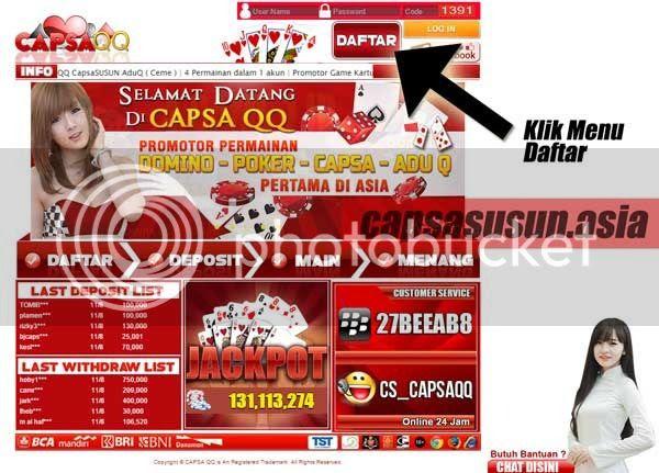 Langkah Pendaftaran Di CapsaQQ Agen Domino 99 Online