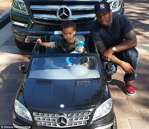 50 cent 1 50 Cent, His Son, and Their Matching Mercedes Benz Rides