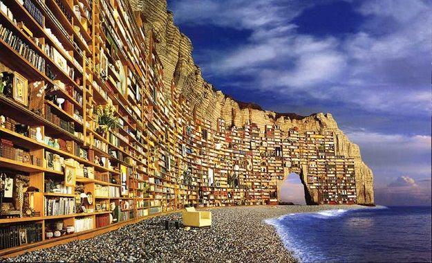 Risultati immagini per libri e mare