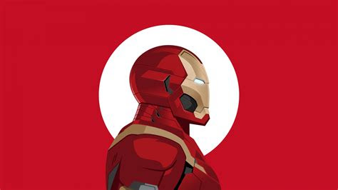 wallpaper iron man minimal art  minimal