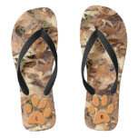 Personalize: Abstract Nature Photo Autumn Camo Flip Flops