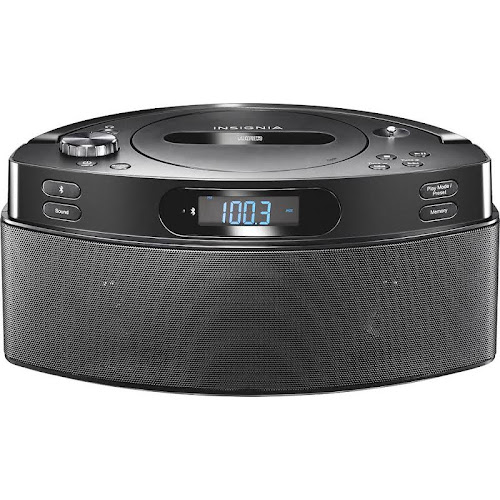 Insignia CD Boombox with AM/FM Radio - Black