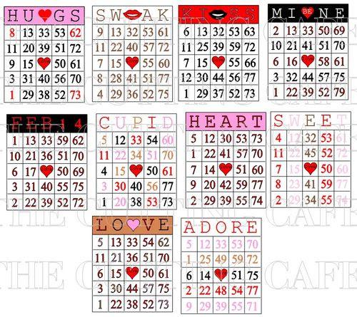 Bingo card numbers