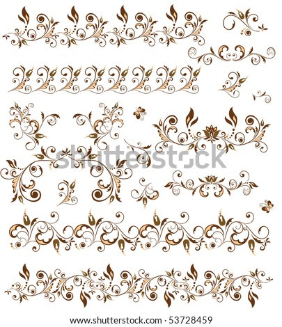 stock vector Decorative borders for design