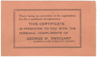 M. Harms registration card verso
