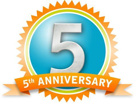 5th Anniversary Business Clipart
