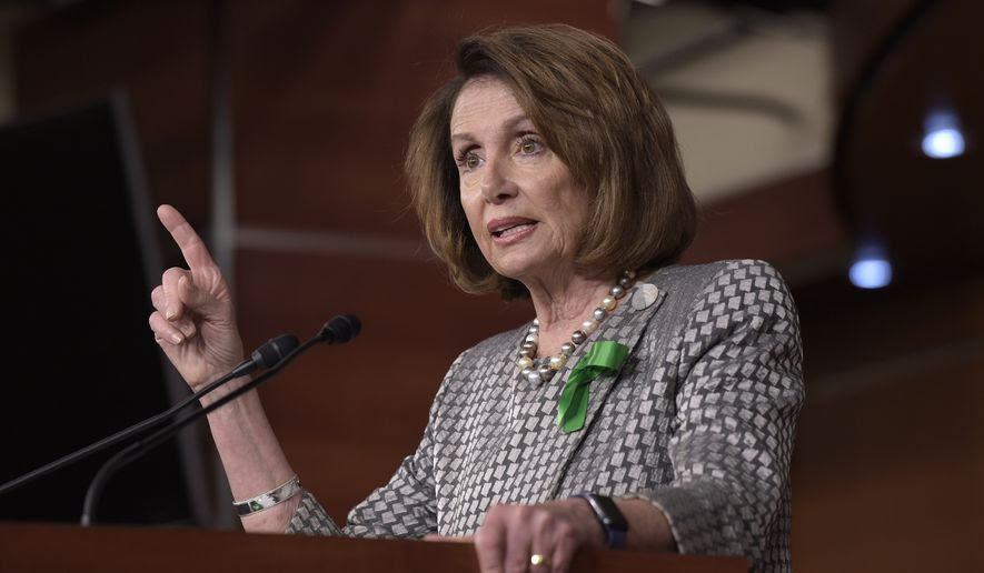 House Minority Leader Nancy Pelosi of Calif. speaks during a news conference on Capitol Hill in Washington, Thursday, May 4, 2017. (AP Photo/Susan Walsh) ** FILE **