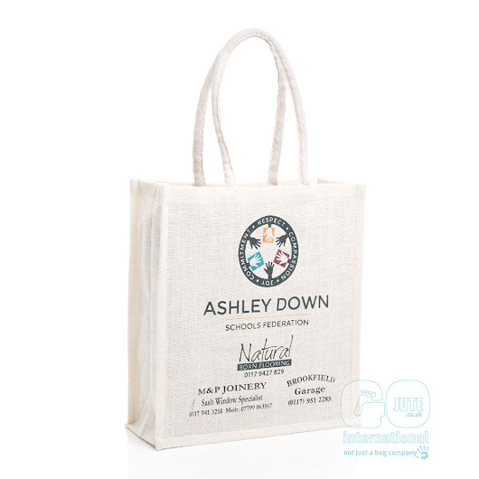 Ashley Downs School Federation sponsored jute bag | GoJute