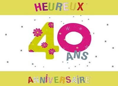Carte Anniversaire Pour Les 40 Ans Nanaryuliaortega Blog
