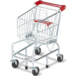 Melissa & Doug Grocery Shopping Cart Toy, Silver